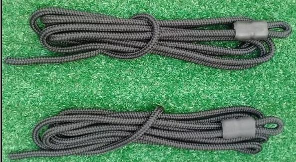 02-corda Para Reforme Pilates (par) sem -mosquetão corda com 3 metros Mosquetão vendido separado